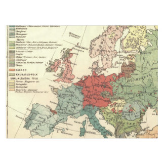 Map tablecloths zazzle european continent map vintage tablecloth gumiabroncs Gallery