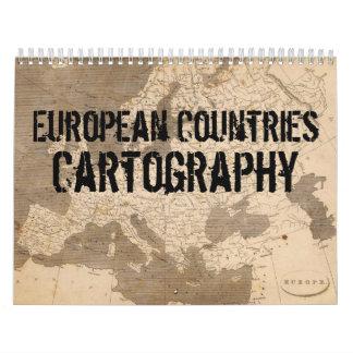 European Countries Cartography Calendar
