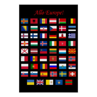 European Countries Flags poster