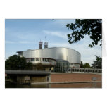 European Court of Justice Strasbourg picture postc Greeting Cards
