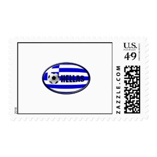 European Cup 2012 - Greece Soccer Football flag Postage Stamps