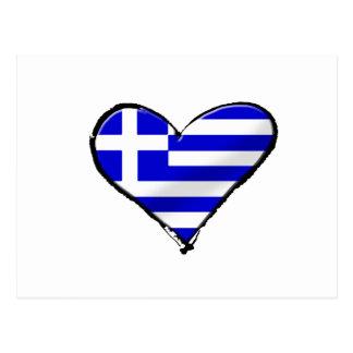 European Cup 2012 - Greece Soccer Football flag Post Card