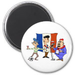 European cup - Euro 2012 French Fans France ball 2 Inch Round Magnet
