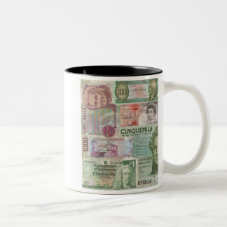 European Currency Coffee Mugs