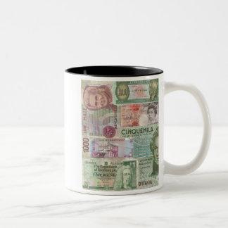 European Currency Two-Tone Coffee Mug