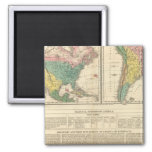 European Discovery of America Atlas Map 2 Inch Square Magnet