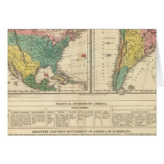 European Discovery of America Atlas Map Greeting Card