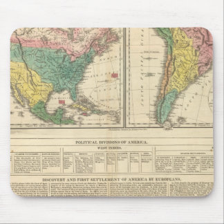 European Discovery of America Atlas Map Mouse Pad