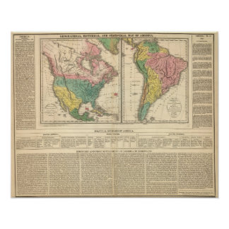 European Discovery of America Atlas Map Poster
