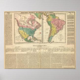 European Discovery of America Atlas Map Print