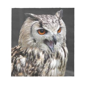 European Eagle Owl Notepad