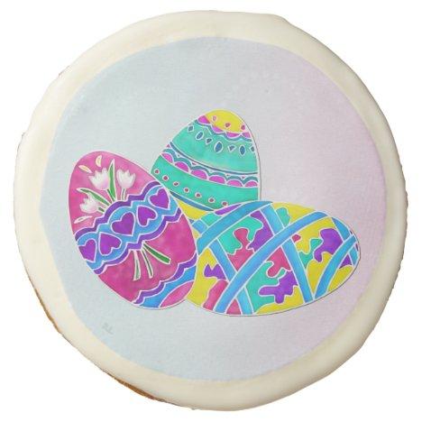 European Easter Folk Art 1 Dozen PARTY Sugar Cookie