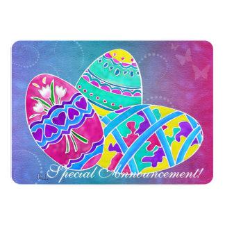 European Easter Folk Art 5x7 PARTY EGG DECORATING Card