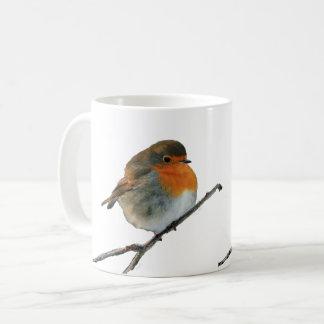 European English Robin bird red breasts on tree Coffee Mug