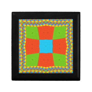 European ethnic tribal pattern gift box