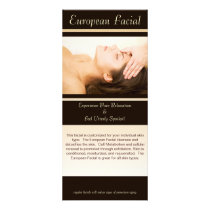 European Facial, European Facial, This facial i... Rack Card
