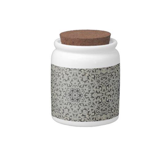 European Filigree Lace Candy Jar