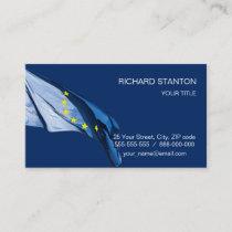 European flag business card
