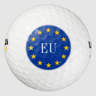 European flag golf ball set with custom EU letters