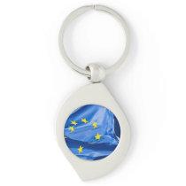 European flag keychain