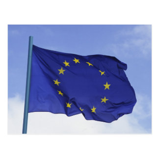 European Flag RF) Postcard