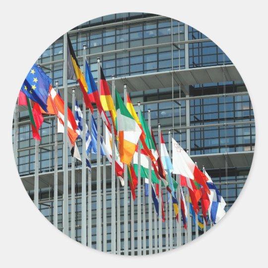 European Flags Classic Round Sticker