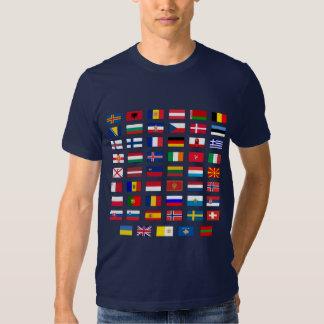 European Flags T Shirt