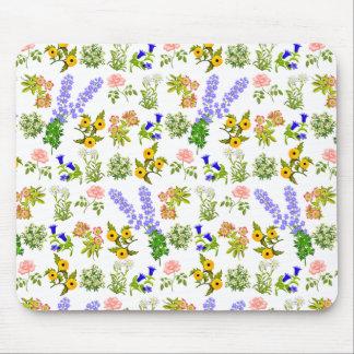 European Garden Flowers Mousepad