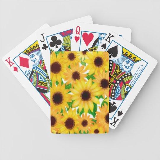 European Garden Sunflowers Playing Cards