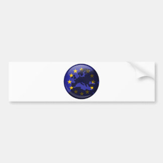 European Globe Bumper Stickers