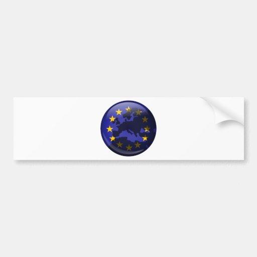 European Globe Car Bumper Sticker