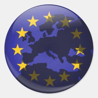European Globe Stickers