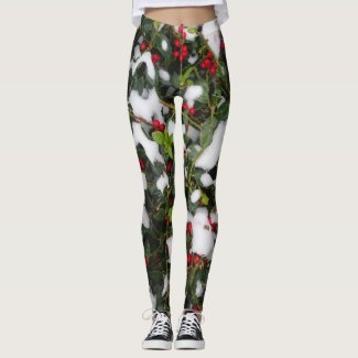 European Holly with Snow Legging