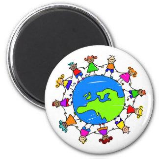 European Kids 2 Inch Round Magnet