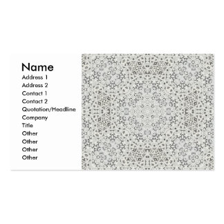 European Lace Profile Card Business Card Template