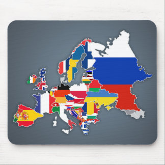 European Map | Country Flags Mouse Pad