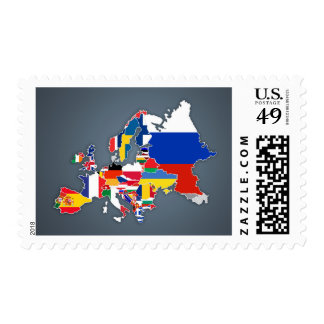 European Map | Country Flags Postage