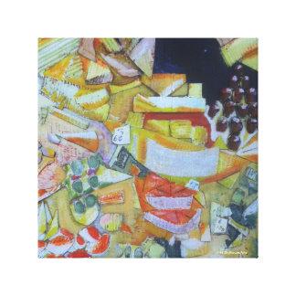 European Market Cheese Stall Canvas Print