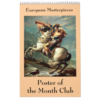 European Masterpieces Poster of the Month Club Calendar