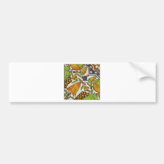 European Ornamental Patterns Bumper Sticker