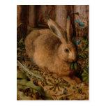 European Painting detail for Rabbit Year 2023 Postcard
