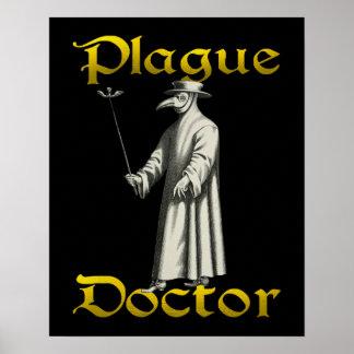 European Plague Doctor Bird Beak Costume Poster