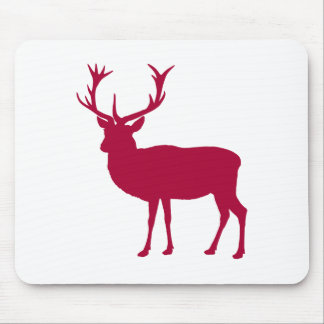 European Red Deer Christmas or Stag Party Mouse Pad