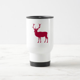 European Red Deer Christmas or Stag Party Travel Mug