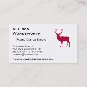 Grooms bachelor party business cards templates zazzle european red deer stag stag party business card reheart Gallery