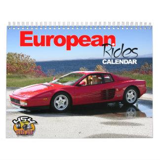European Rides Car Calendar