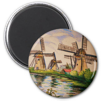European river cruise 211 2 inch round magnet
