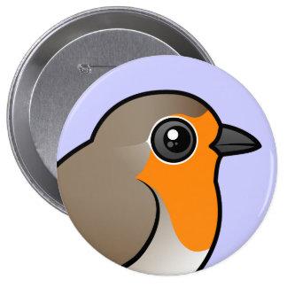 European Robin Pinback Button