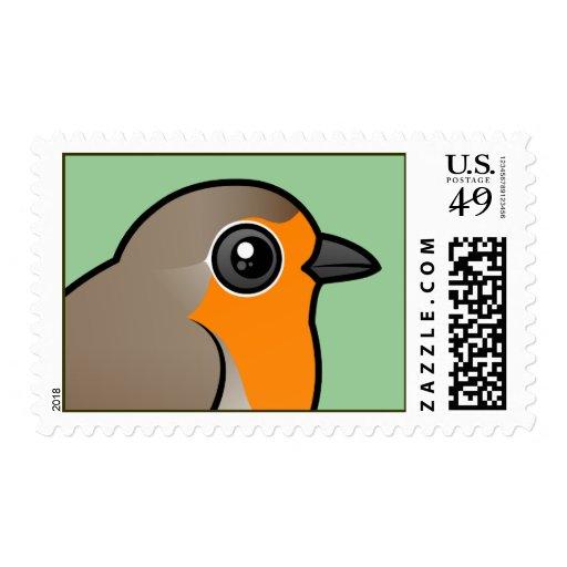European Robin Postage Stamp
