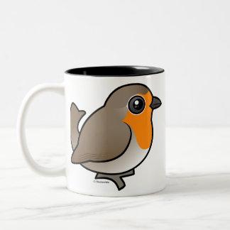 European Robin Two-Tone Coffee Mug